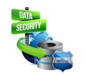 Data security global communications concept — Stock Photo