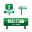Stock Photo: Cape town city road sign