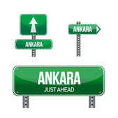 Ankara city road sign — Foto de Stock