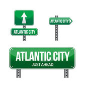 Panneau de signalisation de ville atlantic city — Photo