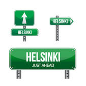 Helsinki city road sign — Foto de Stock