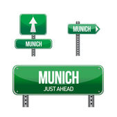 Munich city road sign — Foto de Stock
