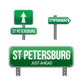 Saint petersburg city road sign — Foto de Stock