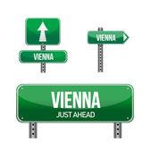 Vienna city road sign — Stock Photo
