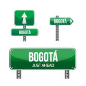 Bogota Colombia city road sign — Stock Photo