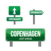 Copenhagen city road sign — Stock Photo