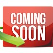 Royalty-Free Stock Photo: Coming soon sticker and arrow