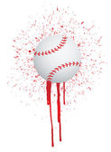Ink splatter baseball — Stock Photo
