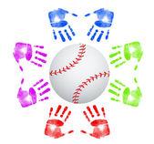 Baseball gemenskapsbegreppet — Stockfoto