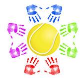 Tennis community concept — Stock Photo