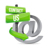 E mail contact us at sign — Stock Photo