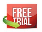 Free trial arrow label — Stock Photo