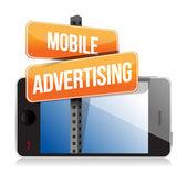 Mobile smartphone. mobile werbung zeichen — Stockfoto