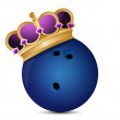 Royalty-Free Stock Photo: Bowling ball with a crown