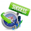Business success compass concept — Stok Fotoğraf #22291879