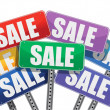 Sale concept. color signs — Stock Photo #22292031