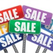 Sale concept. color signs — Stock Photo