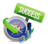 Business success compass concept — Stock Photo
