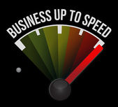 Business up to speed speedometer — Stock Photo