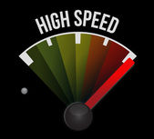High speed speedometer — Stock Photo