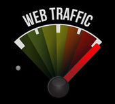 Web traffic speedometer — Stock Photo