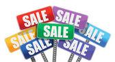 Sale concept. color signs — Stock Photo