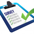 Royalty-Free Stock Photo: Survey and a list of questions