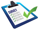 Survey and a list of questions — Stock Photo