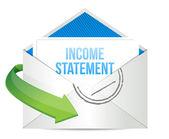 Correo de electrónico de declaración de renta — Foto de Stock