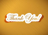 Thank you card over a golden — Stock Photo
