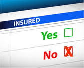 Insurance checklist selection over — Stock Photo