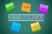 Personal development management business strategy — Stock Photo