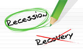 Recession versus recovery selection — Stock Photo