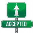 Stock Photo: Accepted road sign