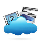 Cloud with movie frame — Stock Photo