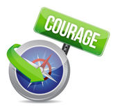 Courage on a compass — Foto de Stock