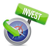 Invest on a compass — Stock Photo