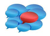 Speech bubbles communication and discussion — Stock Photo