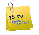 To-do list concept on a post-it — Stock Photo