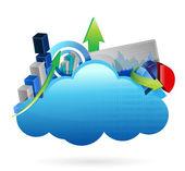 Finanzwirtschaft cloud computing geschäftskonzept — Stockfoto