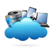 Technology electronics Cloud computing concept — Stock Photo