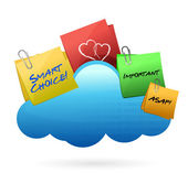 Posts Cloud computing concept — Stock Photo