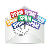 Envelope with spam color signs illustration design — Stockfoto