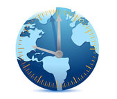 Global time concept — Stok fotoğraf