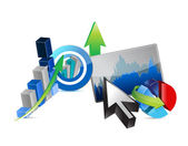 Business financial economy concept — Stock Photo