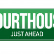 Courthouse road sign — Stock Photo