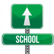 Stock Photo: School road sign