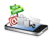 Smartphone online shopping concept — Stock Photo