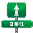 Chapel road sign - Photo