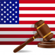 Us flag and gavel — Stock fotografie #22700923